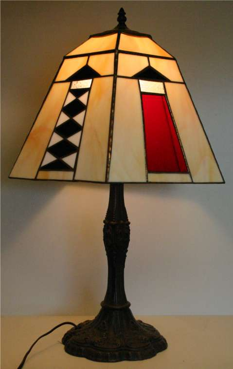 Dolphin watch gallery stained glass lamps by dennis umberger page 200 stained glass lighthouse lamp mozeypictures Choice Image